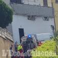 Trana, crolla balcone: due feriti
