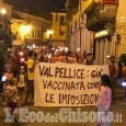 Manifestazione no vax a Torre Pellice