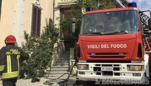 Giaveno: fiamme in una mansarda, uomo ustionato trasportato al Cto