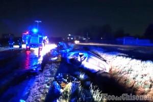 Nichelino: auto fuori strada, ferito 31enne russo