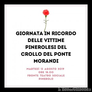 A Pinerolo la commemorazione delle vittime del Ponte Morandi