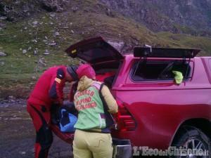 Prali: due interventi del Soccorso alpino al Rifugio Lago verde