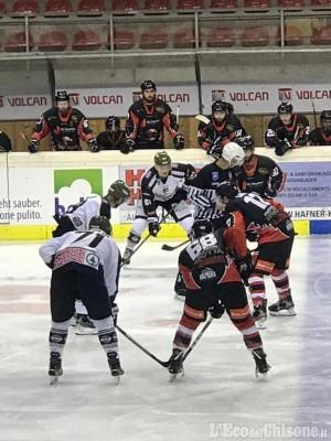 Hockey ghiaccio, dopo aver rimontato il doppio svantaggio Valpeagle superata dai big meranesi