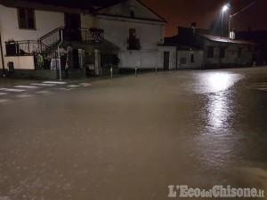 Volvera: chiuse alcune strade per emergenza maltempo, preoccupano Chisola e rio Torto