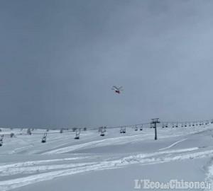 Prali: si scontrano col verricello del gatto delle nevi, feriti due scialpinisti