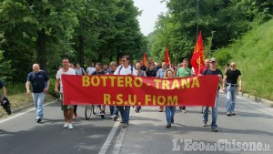 Trana: lavoratori Bottero a Cuneo, sciopero e corteo per trecento