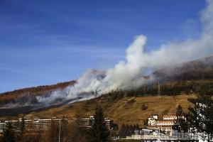 Sestriere, spento l'incendio provocato da lavori di saldatura alla telecabine del Fraiteve