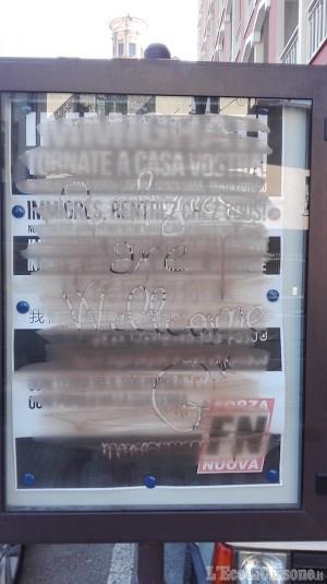 """Giaveno: messaggio di Forza Nuova in una bacheca:""""Immigrati tornate a casa"""""""
