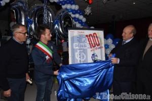 Pinerolo Calcio con orgoglio biancoblu: il traguardo storico dei 100 anni ed una festa riuscita