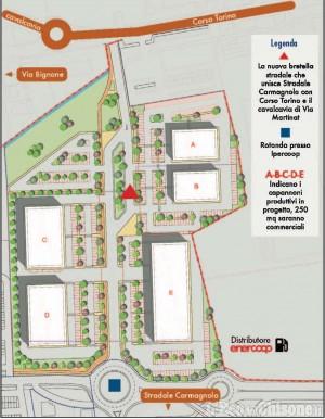 Altri capannoni a Pinerolo e una nuova arteria stradale
