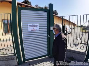 Centro vaccinale di Abbadia di Pinerolo: la nuova segnaletica e l'allestimento delle sale