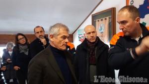 Sergio Chiamparino in visita all'Aib di Cumiana