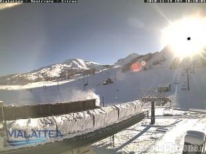 Montagna Pinerolese tra sole, neve e altri fiocchi in arrivo
