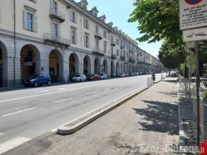 Pinerolo: riaprono le strade del centro, circolazione regolare.