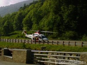 Crissolo: decollato elicottero per il recupero dell'alpinista precipitato
