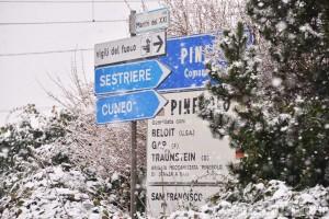 Neve: linee e strade interrotte nel Pinerolese