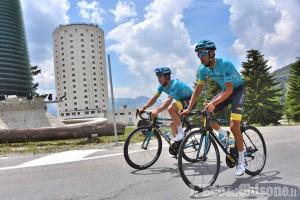 Fabio Aru e Chris Froome preparano il Tour de France a Sestriere