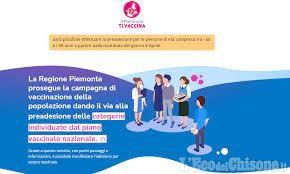 Ancora non attiva la piattaforma www.ilpiemontetivaccina.it per la fascia 60-69 anni