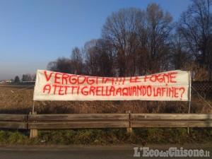 Vinovo: i cittadini di Tetti Grella protestano