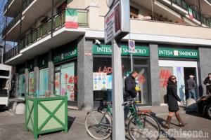 Nichelino: raid anarchico in via Torino