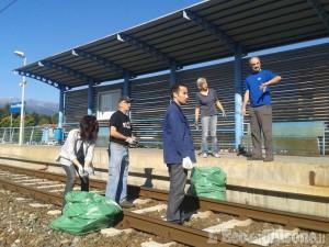 Pinerolo: flash mob per ripulire la Stazione olimpica e rilanciare la ferrovia