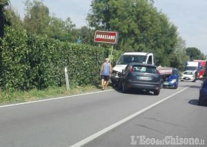 Incidente sulla Provinciale tra Orbassano e Stupinigi, due feriti lievi