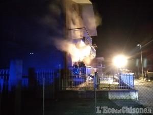 Giaveno: va a fuoco un appartamento