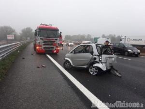 Rivalta: altro incidente sulla tangenziale sud, grave una 33enne