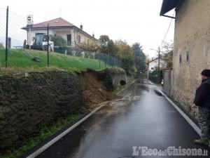Cumiana: crollo di un muro a secco, viabilità momentaneamente interrotta in via Chisola