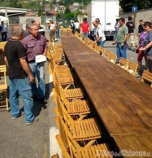Perosa-Pomaretto: volontari al lavoro per la cena dei record