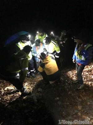 Cumiana: disperso nei boschi mentre cercava funghi, 81enne ritrovato dal Soccorso alpino