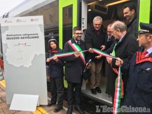 Treno Savigliano - Saluzzo, linea riaperta con il viaggio inaugurale
