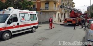 Pinerolo: fiamme in un alloggio di un palazzo in via Alliaudi