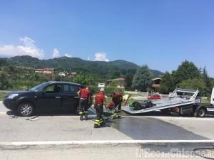 Bricherasio: motociclista tampona Suv, trasportato in elicottero al Cto