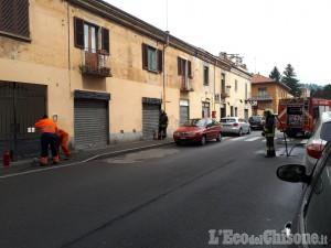 Pinerolo: fuga di gas in via Gioberti, tecnici Acea e Vigili del fuoco al lavoro