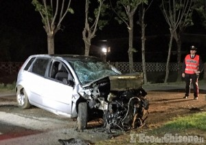 Piossasco: auto fuori strada sulla Provinciale 6, morto il conducente