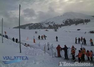Sestriere: piste aperte con 160 cm di neve fresca