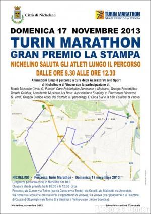 Nichelino: la Turin Marathon devia il traffico