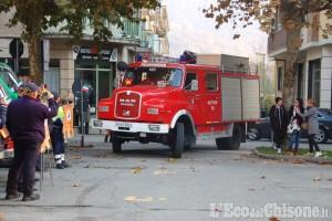 Villar Perosa: gli Aib festeggiano la nuova sede e il mezzo donato dai Feuerwehr