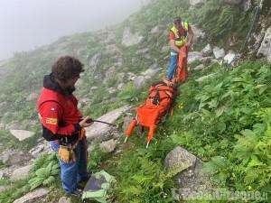 Bagnolo: scalatore soccorso in parete con due sospette fratture alle gambe