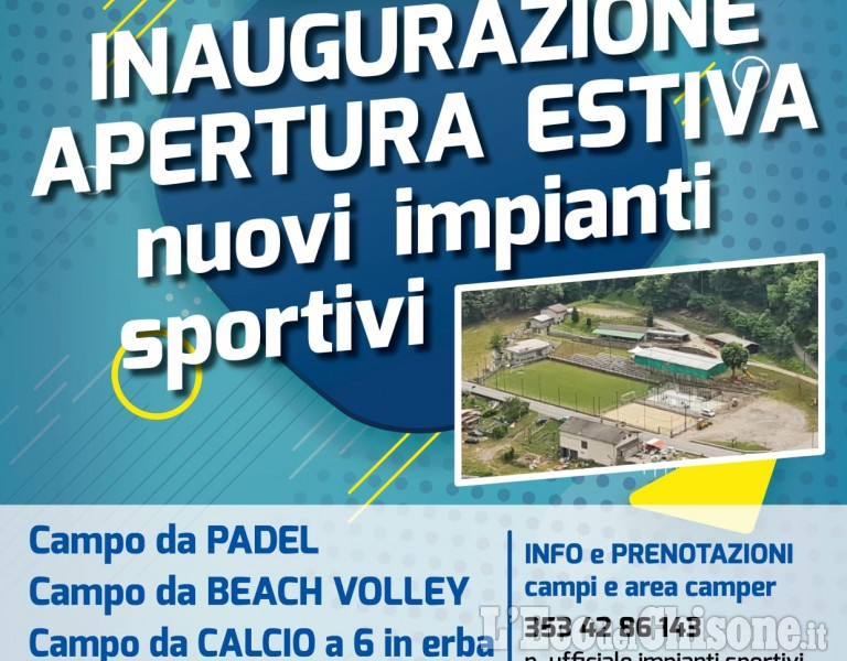 Pomaretto inaugura i nuovi impianti sportivi: padel, beach volley e calcio a 6
