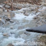 Alluvione a Perosa: corsa contro il tempo delle ruspe per tornare alla normalità