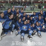 Hockey ghiaccio,festa italiana a Torre Pellice