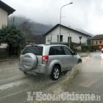 Alluvione in Val Chisone, la Sp 23 percorribile da Porte a Perosa Argentina