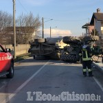 Casalgrasso: si ribalta al volante del trattore, ferito agricoltore