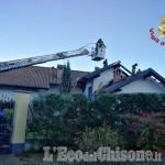 Cumiana: fiamme su una falda del tetto, Vigili del fuoco domano il rogo