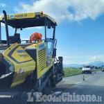 Cavour: asfalto nuovo ma ancora lunghe code sulla strada statale 589