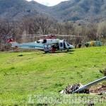 Cantalupa: boscaiolo precipitato, trasportato in ospedale con l'elisoccorso