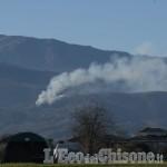 Fiamme nei boschi di Bibiana, l'intervento dei Vigili del fuoco