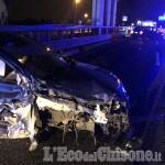 Contromano sulla Torino-Pinerolo, si schianta contro un'auto all'uscita di Candiolo